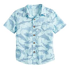 Boys 4-12 SONOMA Goods for Life™ Sharks Button Down Shirt