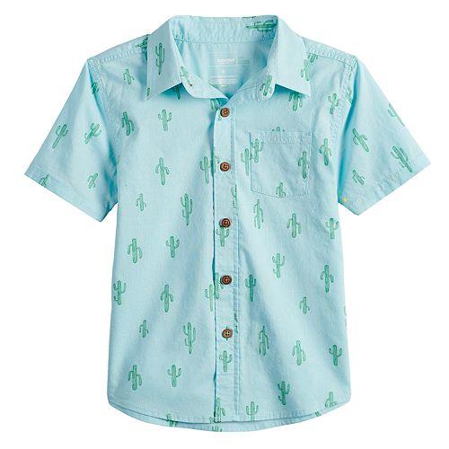 Boys 4-12 SONOMA Goods for Life™ Cactus Button Down Shirt