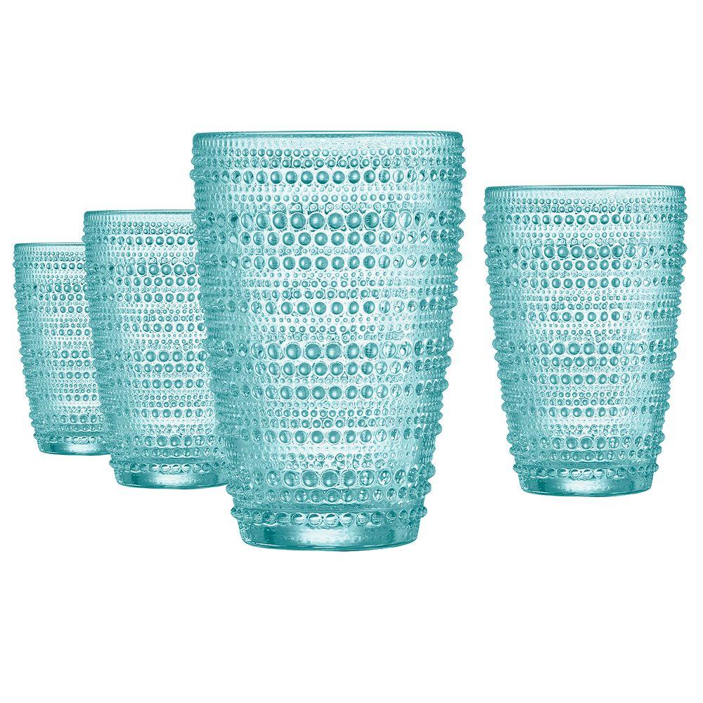 Food Network™ Pearl Aqua 4-pc. Highball Glasses