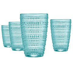 Food Network™ Pearl Aqua 4-pc. Highball Glass Set
