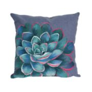 Liora Manne Visions III Succulent Indoor Outdoor Throw Pillow