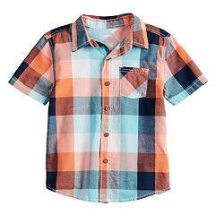 Boys 4-12 SONOMA Goods for Life™ Checked Plaid Woven Shirt