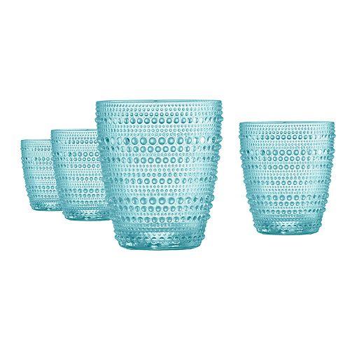 Food Network™ 4-pc. Pearl Aqua Double Old-Fashioned Glass Set