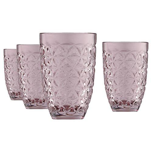 Food Network™ Astoria Purple 4-pc. Highball Glass Set