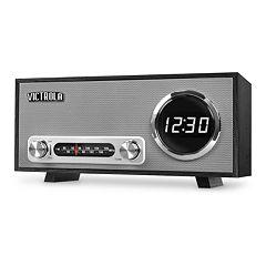 Victrola Bluetooth Digital Clock Stereo with FM Radio & USB Charging