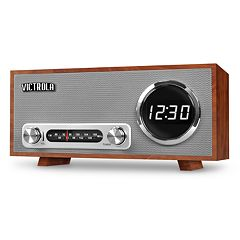 Victrola Bluetooth Digital Clock Stereo with FM Radio & USB Charging