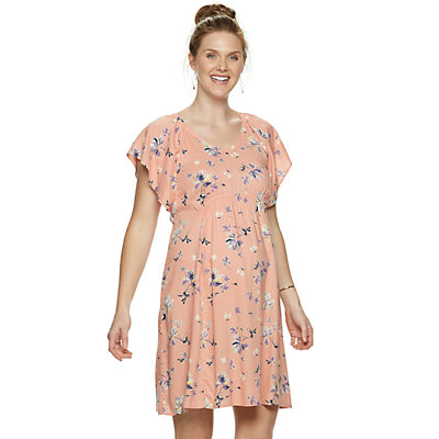 Maternity a:glow Challis Floral Dress