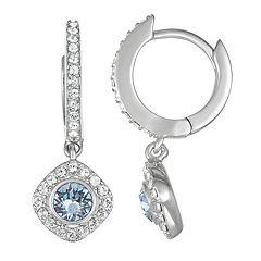Brilliance Hoop Drop Earrings with Swarovski Crystals