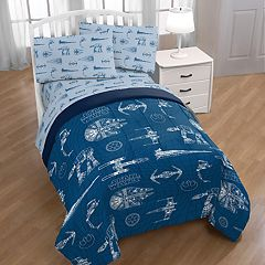 Star Wars Vehicle Schematics Bedding Set