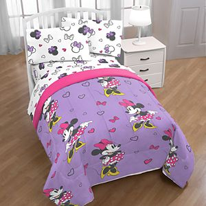 Disney's Minnie Mouse Purple Love Bedding Set