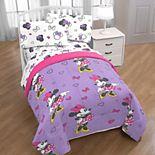 Disney's Minnie Mouse Purple Love Comforter