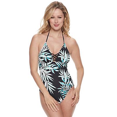 Women's Apt. 9® Strappy Halter One-Piece Swimsuit