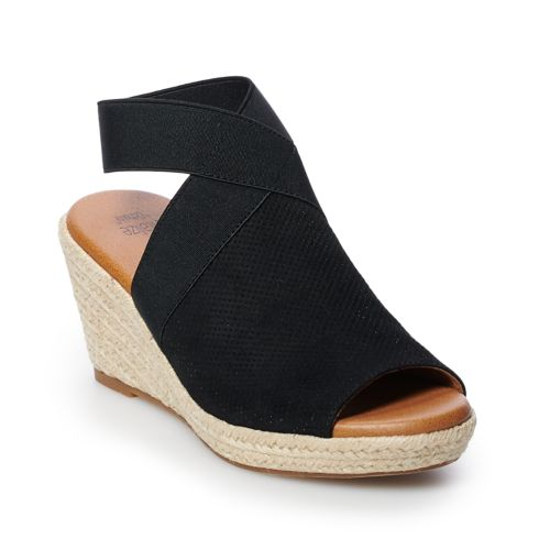 Sonoma Goods For Life™ Espadrille Women's Wedge Sandals by Kohl's