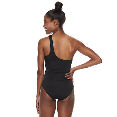 Women's Apt. 9® One Shoulder Cutout One-Piece Swimsuit