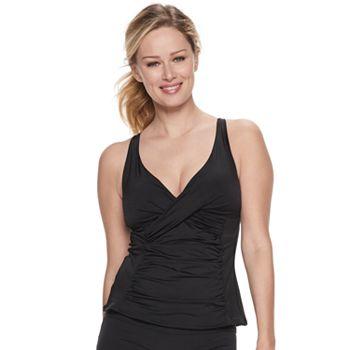 Women's Apt. 9® Wrap Front Tankini Top