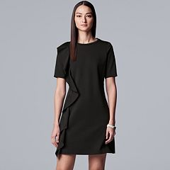 1c819da535ab Women s Simply Vera Vera Wang Ruffle Ponte Sheath Dress