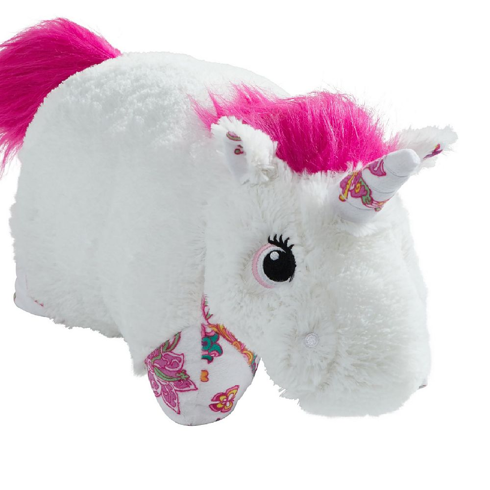 Pillow Pets Colorful White Unicorn Stuffed Animal Plush Toy
