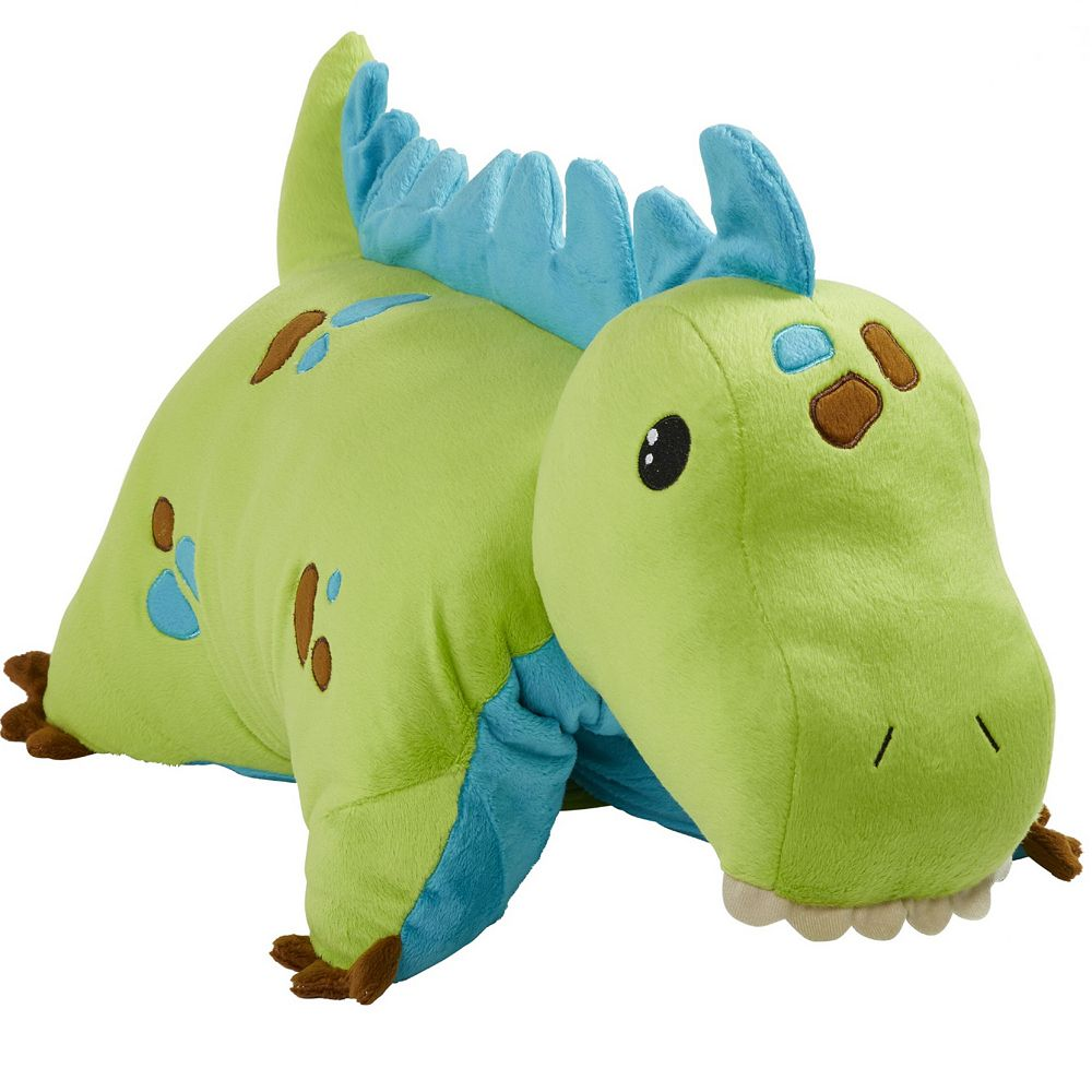 Pillow Pets Green Dinosaur Stuffed Animal Plush Toy