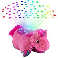 Pillow Pets Colorful Pink Unicorn Plush Sleeptime Lite