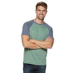 Men's SONOMA Goods for Life™ Supersoft Regular-Fit Raglan Crewneck Tee