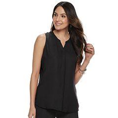 afa96b618819a Womens Black Apt. 9 Sleeveless Shirts   Blouses - Tops