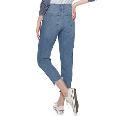 NEW! Juniors' SO® Distressed Mom Jeans
