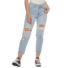 Juniors' SO® Distressed Mom Jeans