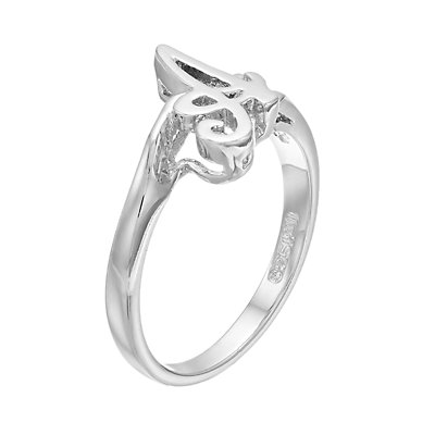 Traditions Sterling Silver Initial Ring