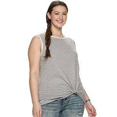Juniors' Plus Size SO® Printed Muscle Tank Top