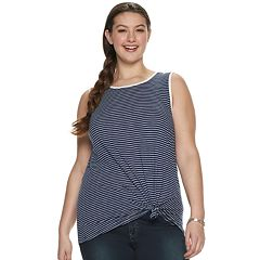 53fa64b3952e3 Juniors' Plus Size SO® Printed Muscle Tank Top