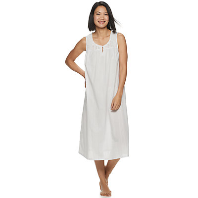 Women's Croft & Barrow® Lace-Trim Nightgown
