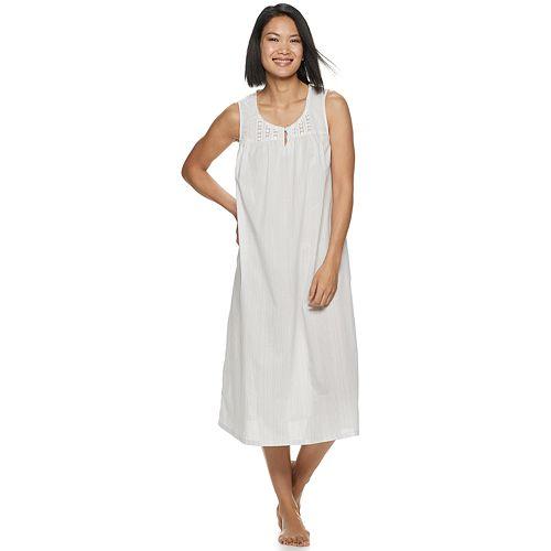 Women's Croft & Barrow® Lace-Trim Nightgown