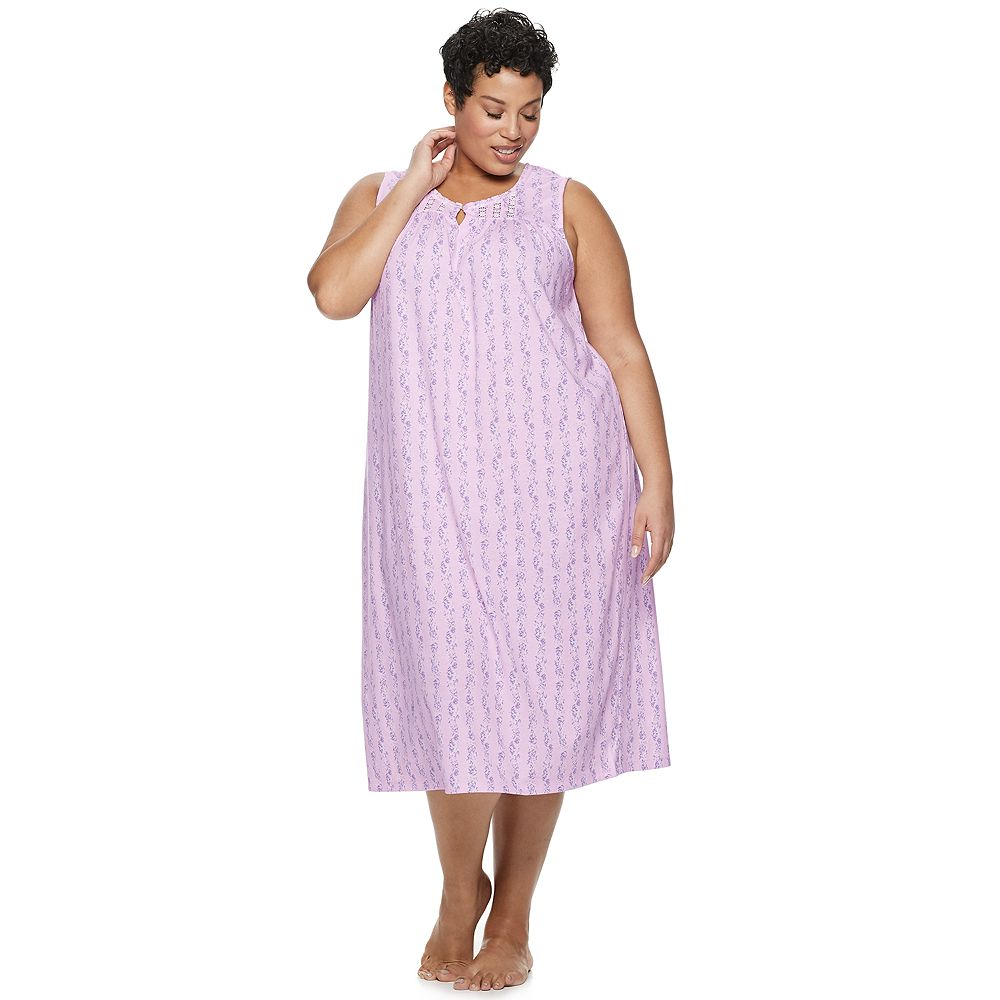 Plus Size Croft & Barrow® Lace-Trim Nightgown