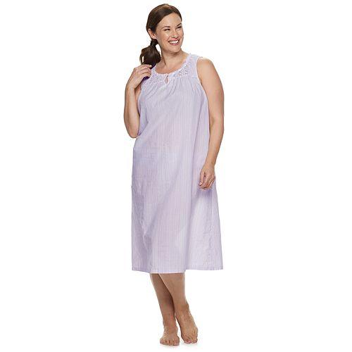 Plus Size Croft & Barrow® Lace-Trim Nightgown