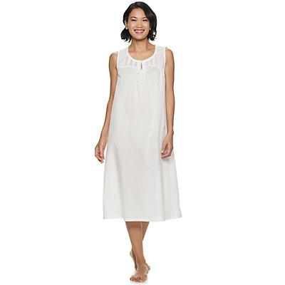 Petite Croft & Barrow® Lace-Trim Nightgown