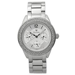 Bulova Women's Crystal Accent Stainless Steel Watch - 96N102