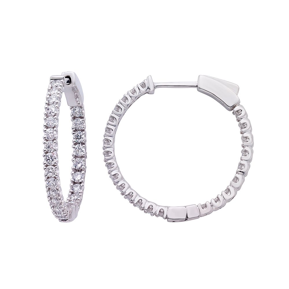 Evergreen Diamonds 1 Carat T.W. IGL Certified Lab-Created Diamond Inside Out Hoop Earrings