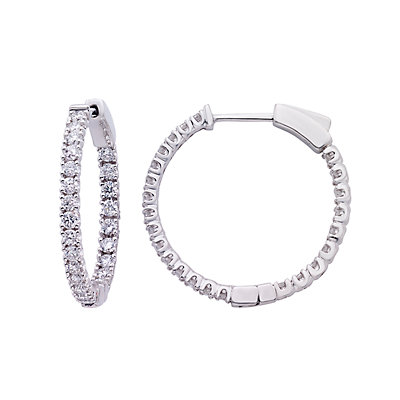 Evergreen Diamonds 1 Carat T.W. IGL Certified Lab-Created Diamond Inside Out Hoop Earrings