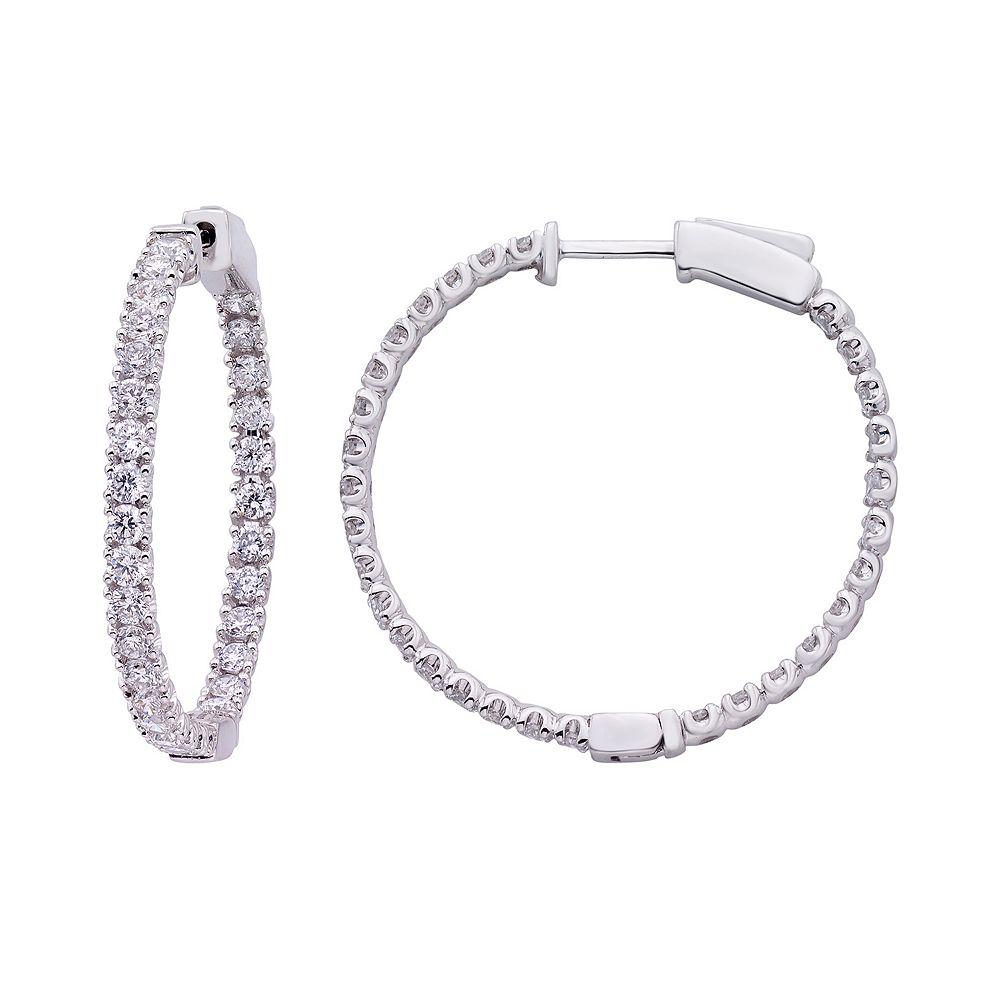 Evergreen Diamonds 2 Carat T.W. IGL Certified Lab-Created Diamond Inside Out Hoop Earrings