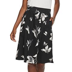 9d38eaf41e6 Women s Apt. 9® Poplin Pull-On Midi Skirt