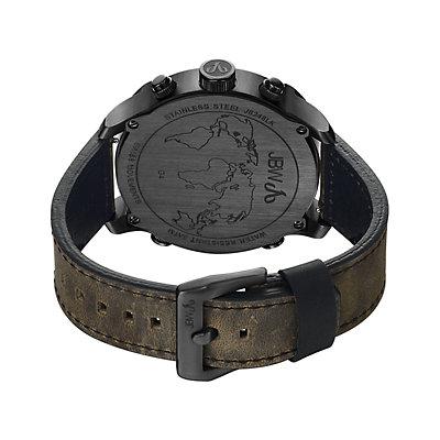 JBW Men's G4 Diamond Accent Triple Time Leather Watch - J6248LK-K