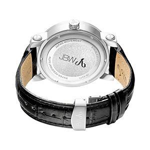 JBW Men's Hendrix Diamond Accent Leather Watch - JB-6211L-G-G