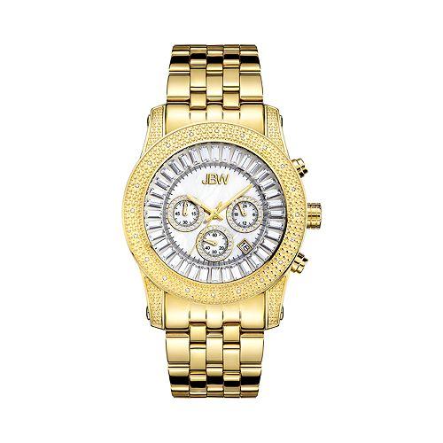 JBW Men's Krypton Diamond Accent 18k Gold-Plated Watch - JB-6219-F-F