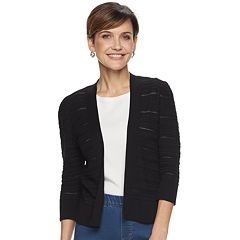7f9ba70196b Women's Croft & Barrow® Pointelle Open-Front Crop Cardigan