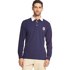Men's IZOD Solid Texture Rugby Polo