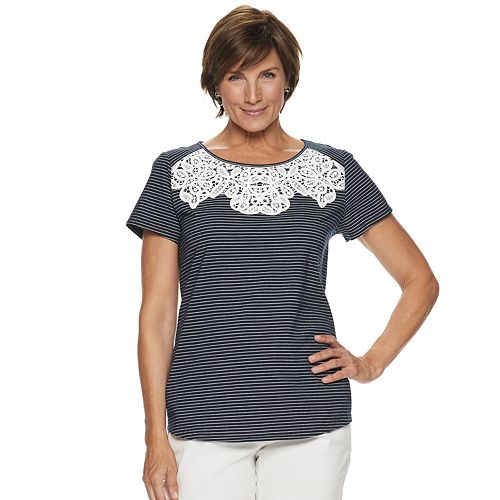 Women's Croft & Barrow® Lace Trim Tee