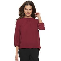Women's ELLE™ Ruffle Neck Top