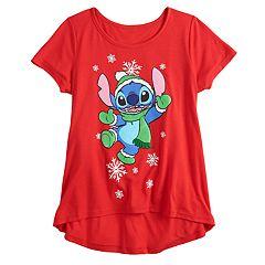 Disney's Lilo & Stitch Girls 7-16 Snowflake Graphic Tee