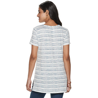 Petite's SONOMA Goods for Life? Strappy Neck Tunic Tee