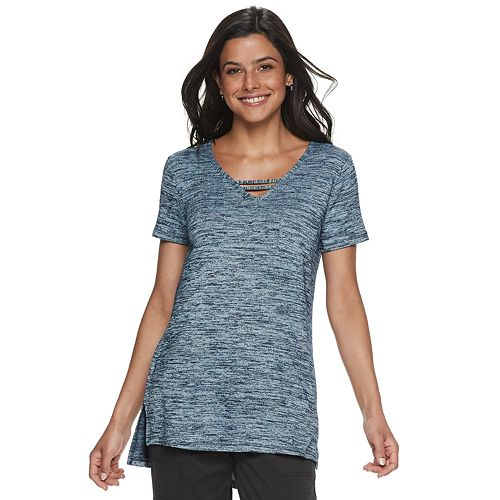 Petite's SONOMA Goods for Life® Strappy Neck Tunic Tee